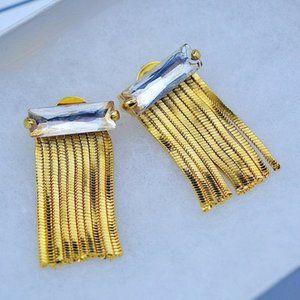 Henri Bendel Crystal Tassel Classic Stud Earring